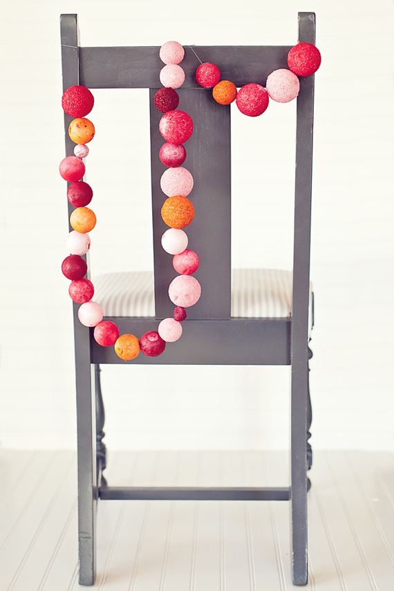 styrofoam balls party garland