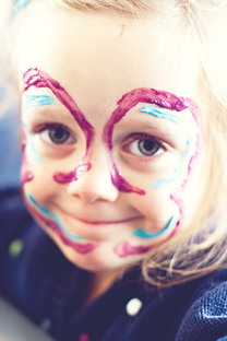 natural dyed face paint