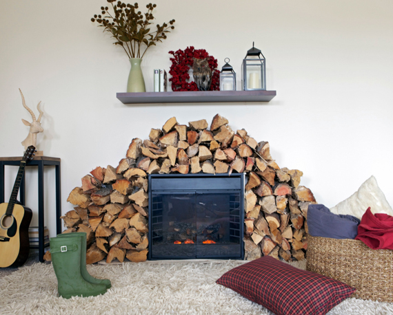 DIY moveable fireplace