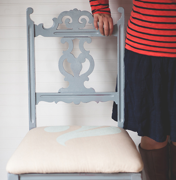 stenciled chair makeover