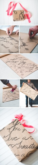 Hand Font: Lettered Wrapping Paper