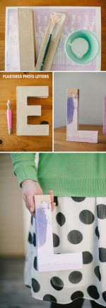 Plastered Photo Letters