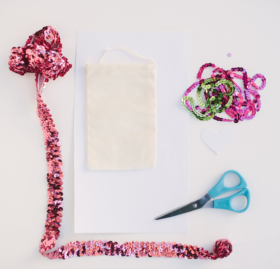how to make a sequin heart