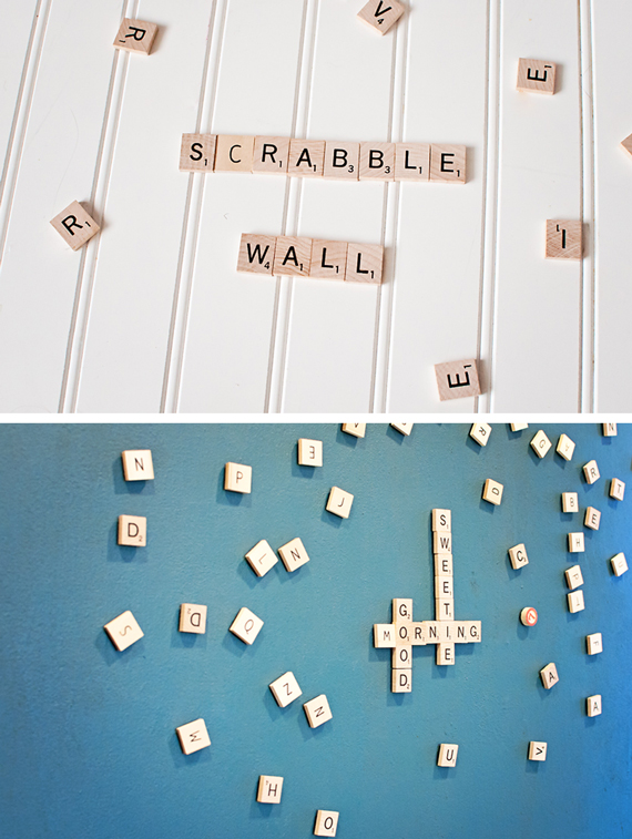 Magnetic Scrabble Wall • A Subtle Revelry