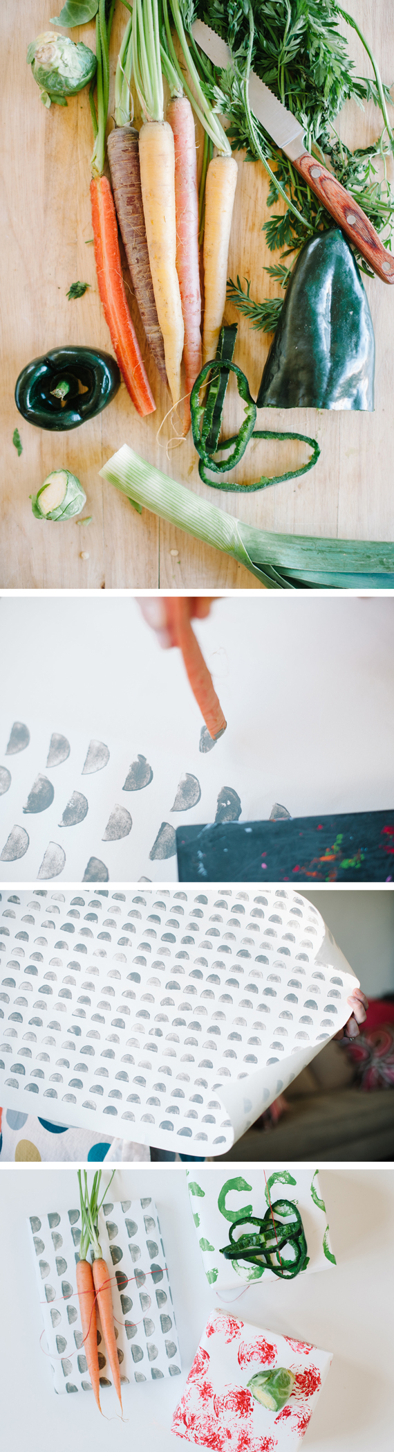 How to make Vegetable Easter Wrapping Paper