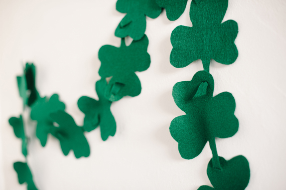 St. Patricks Day Shamrock Garland