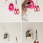 Plastic egg bird feeders