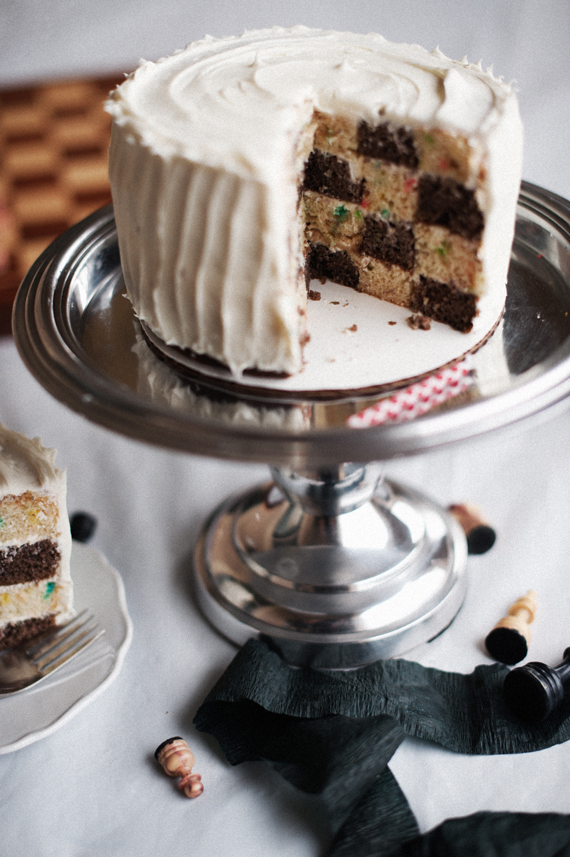 Checkerboard Birthday Cake • A Subtle Revelry