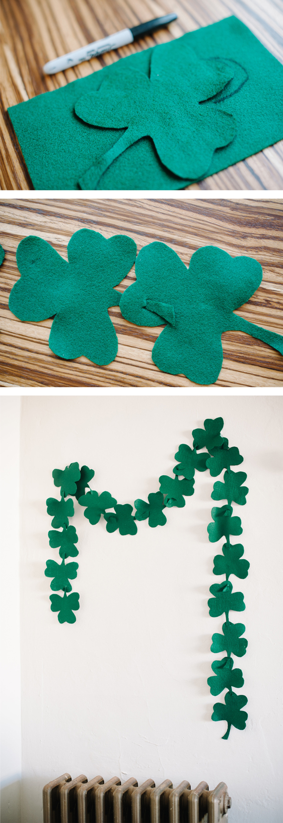 How to make a St. Patrick's day garland