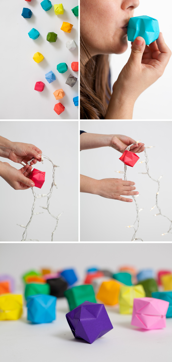 Colorful Diy Origami Fairy Lights A Subtle Revelry