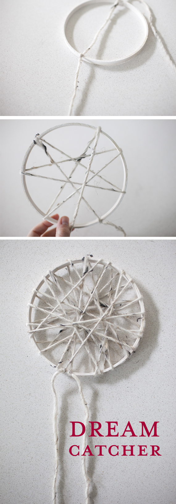 DIY Dreamcatcher step by step