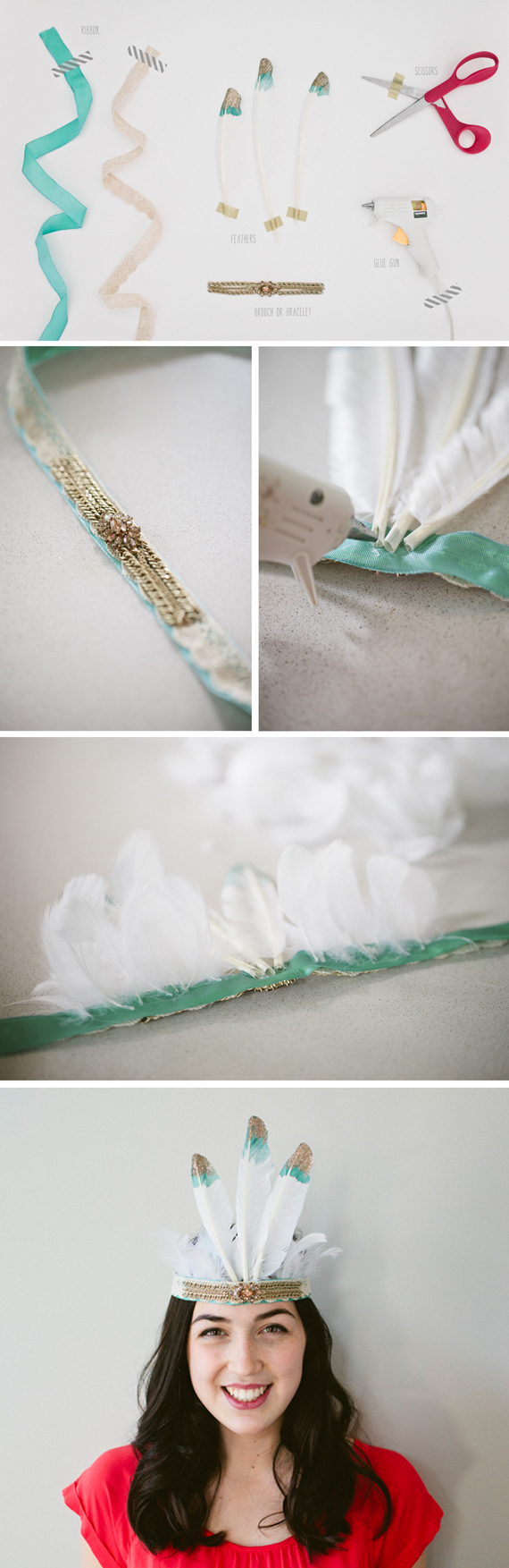 how to make a feather headdress