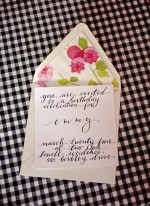 Floral Lined Invitations + Weekend Links