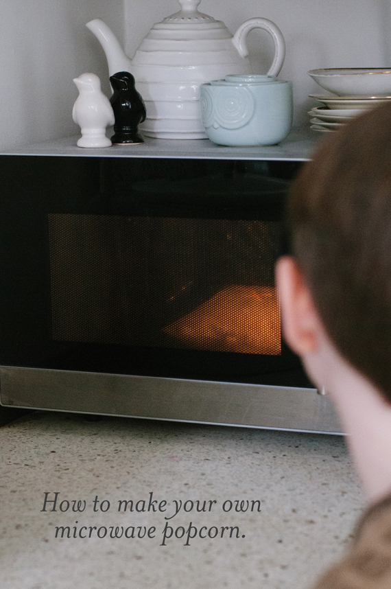 how to make popcorn seeds in microwave