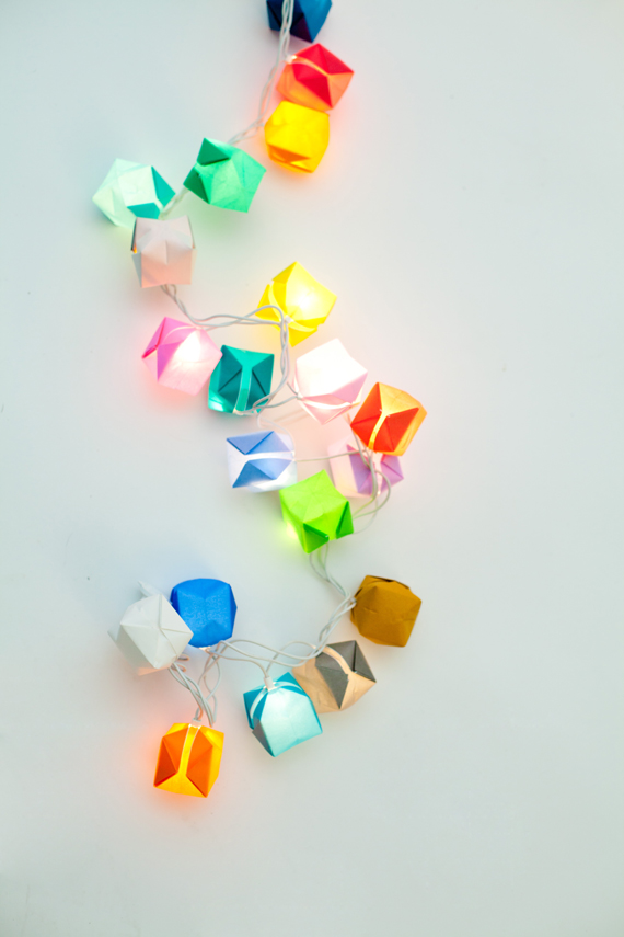 Origami blow box lights