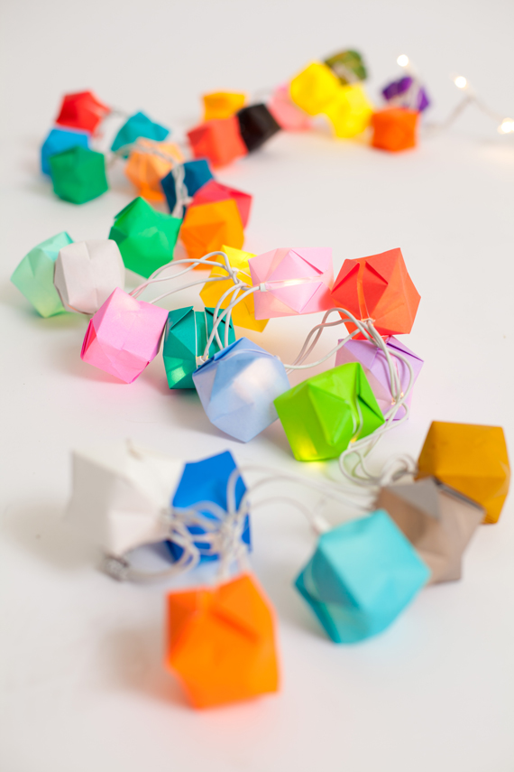 String of paper blow boxes
