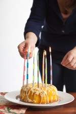striped birthday candles