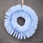 accordion paper wreath