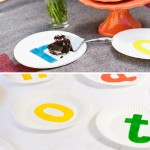 food color painted paper plates