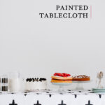 graphic painted tablecloth