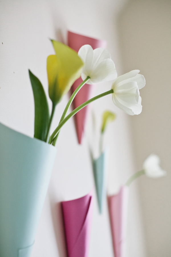 Paper floral wall cones a subtle revelry paper floral wall cones mightylinksfo