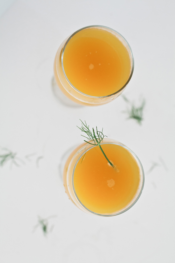 Beermosa with fennel clove syrup | A Subtle Revelry