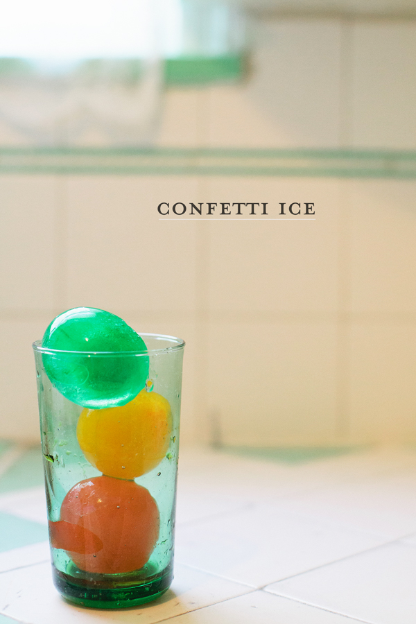 big ball confetti ice cubes