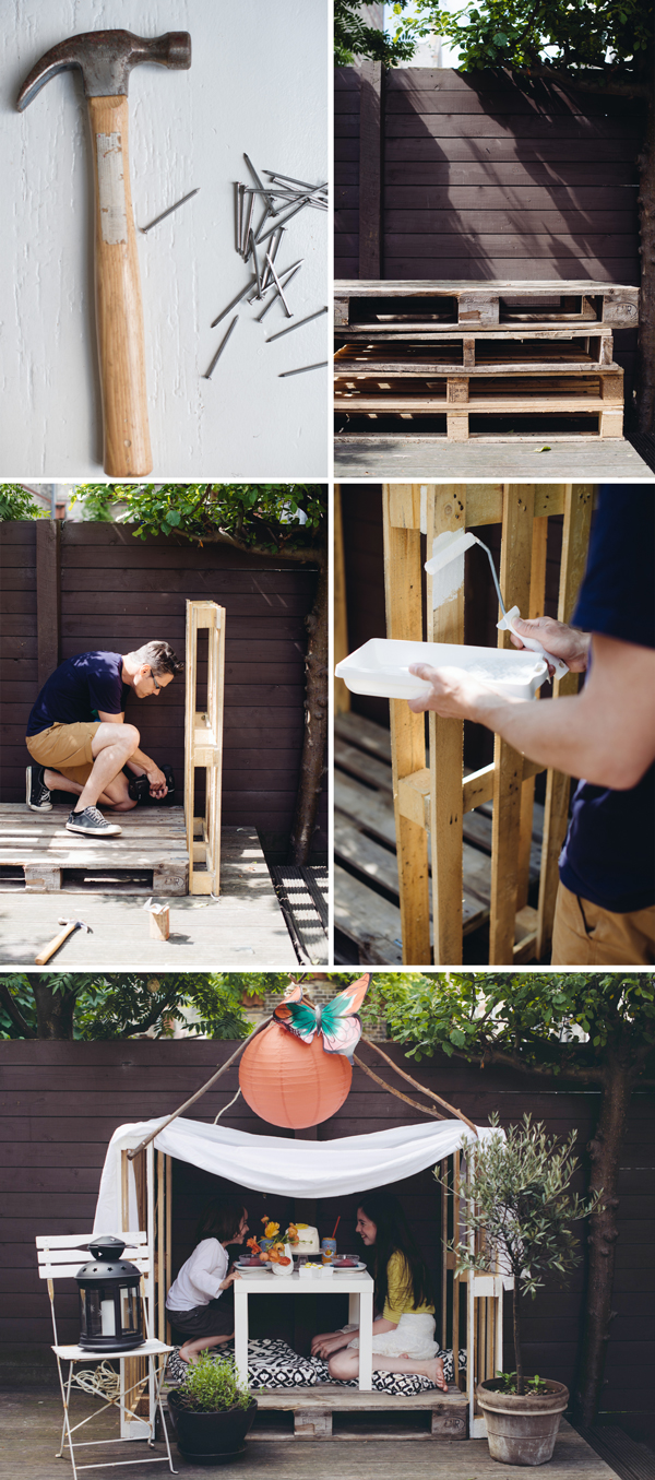 Simple Wooden Three Pallet Play House A Subtle Revelry