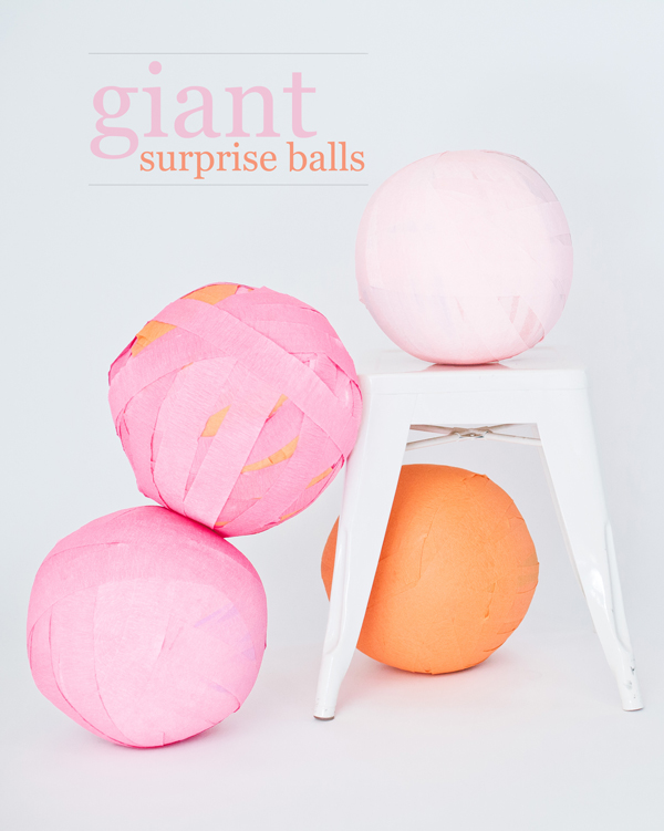 giant surprise balls | A Subtle Revelry