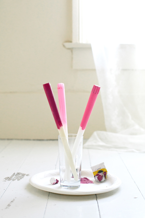 simple painted candles | A Subtle Revelry