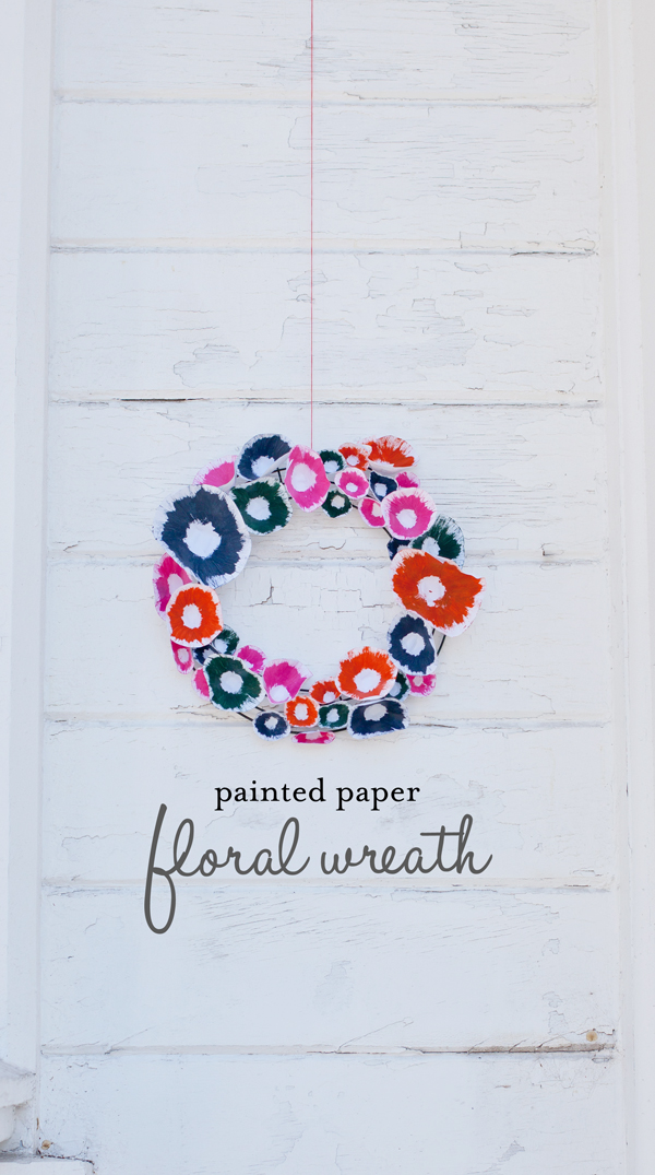 painted paper floral wreath | A Subtle Revelry