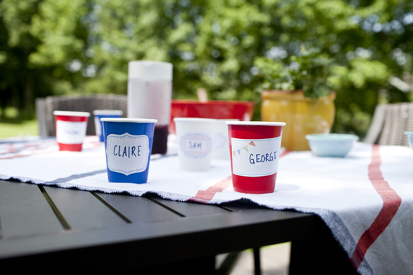 Printable cup labels for the 4th of July | A Subtle Revelry