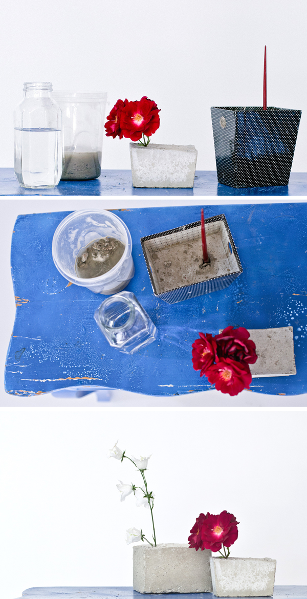Concrete vases step by step