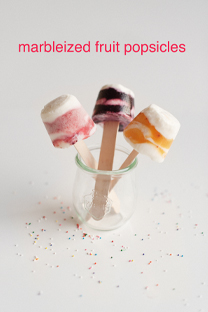 marbleized popsicles
