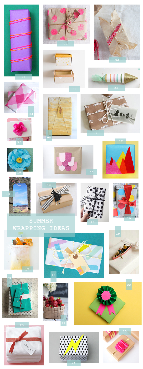 25 Summer Gift Wrapping Ideas A Subtle Revelry