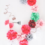tissue paper flower garland