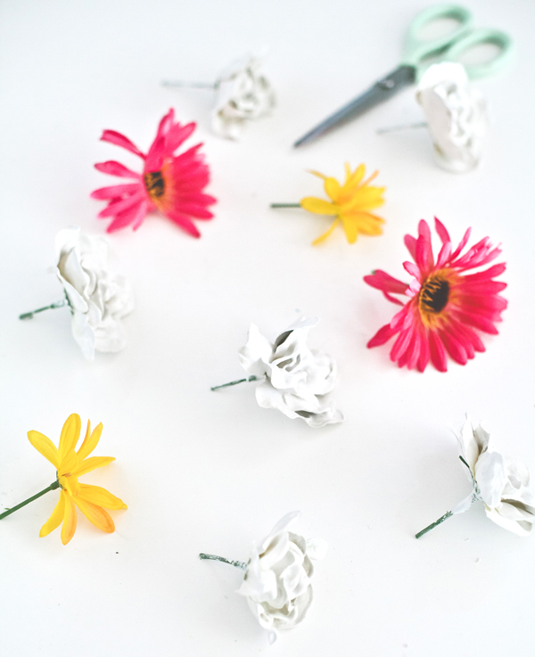 How to make plaster flowers | A Subtle Revelry