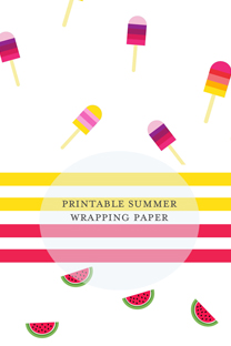printable summer wrapping paper