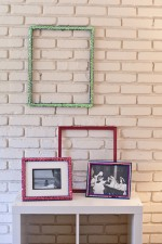 sequin photo frames