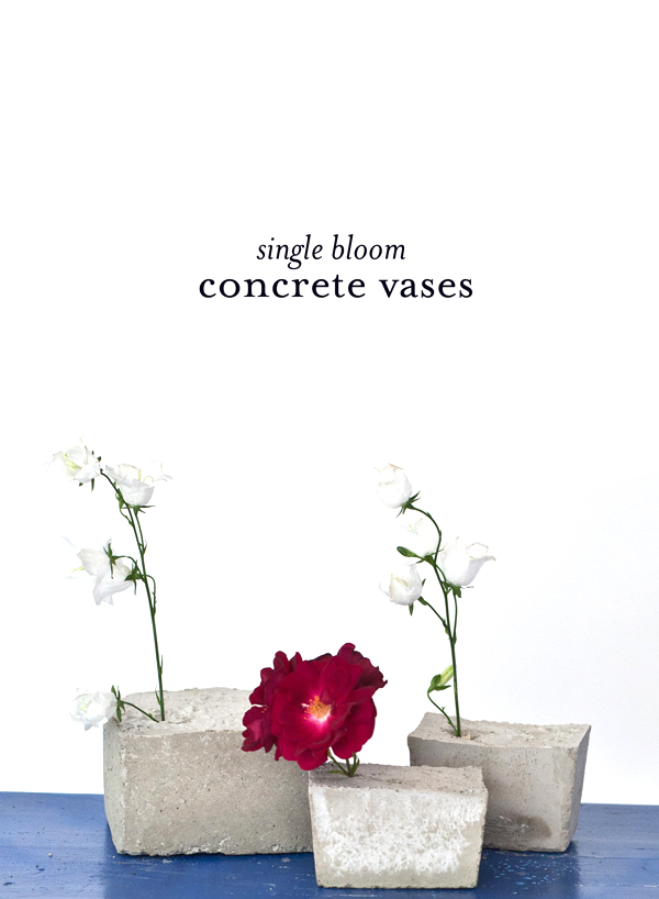 single bloom concrete vases | A Subtle Revelry