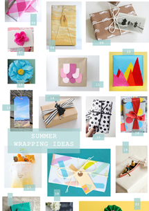 25 summer gift wrapping ideas