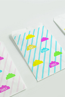 bright printable lunch bags