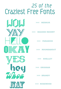 25 crazy creative fonts