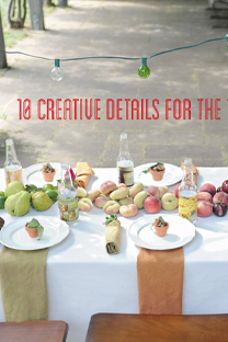 10 creative details for the table