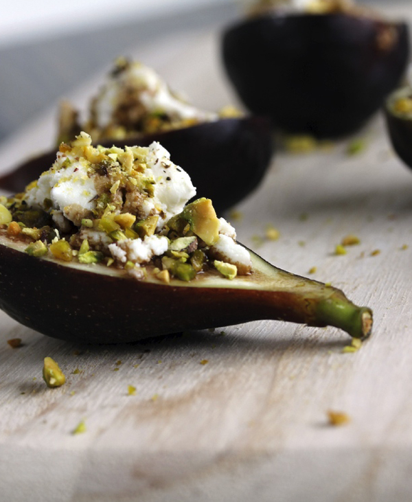 Fig, Goat Cheese and Pistachio Fall Appetizer | A Subtle Revelry