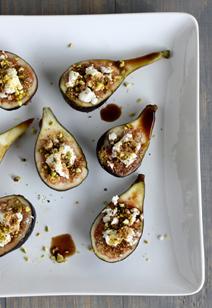 stuffed goat cheese and pistachio figs