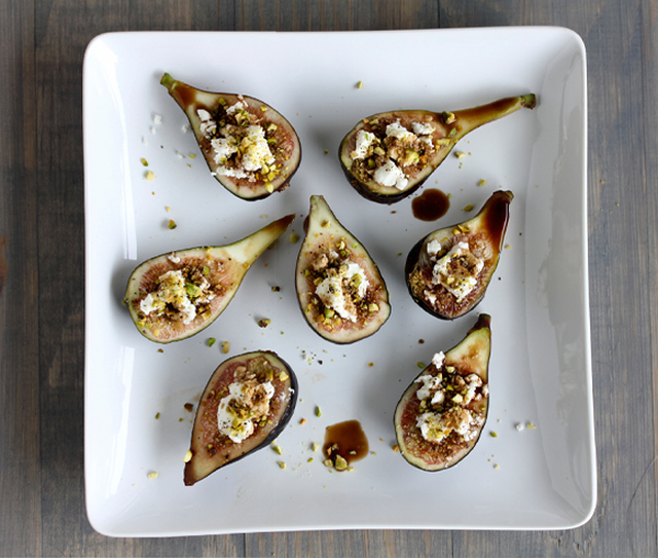 stuffed goat cheese and pistachio figs • A Subtle Revelry