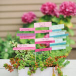 stacked paper seating cards