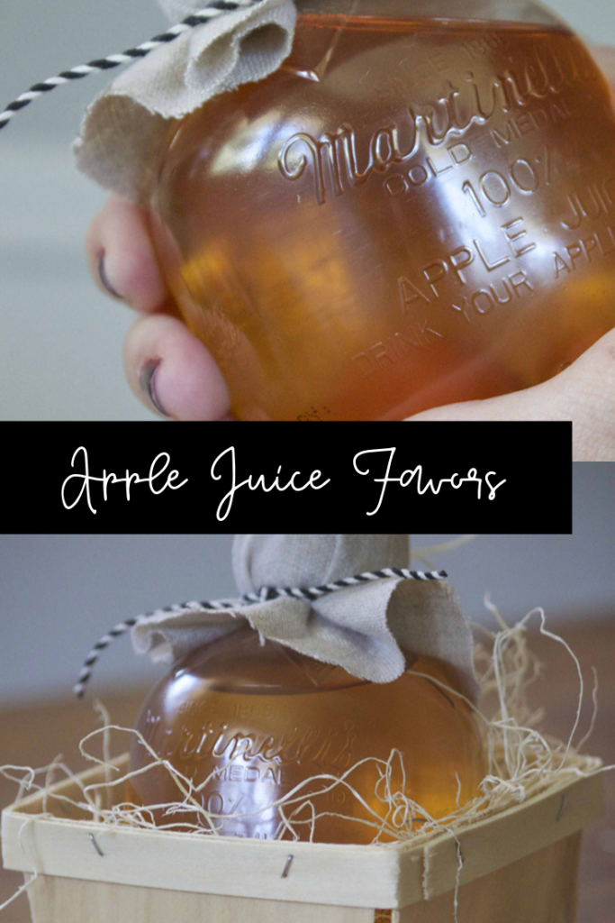 apple juice favors