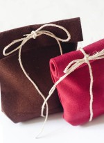no-sew felt favor bags